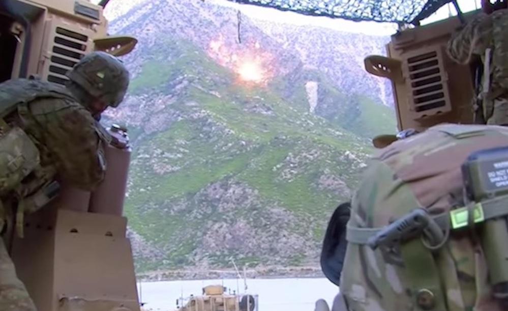 American Soldiers Taliban Snipers Air Strike