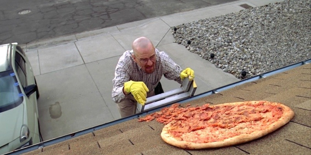 Breaking Bad Pizza On Roof