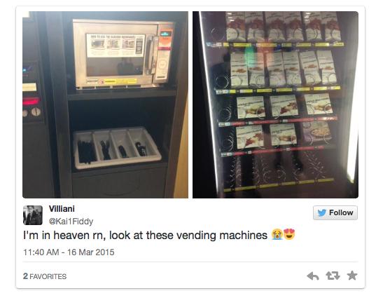 Chicken Nugget Vending Machine Tweet