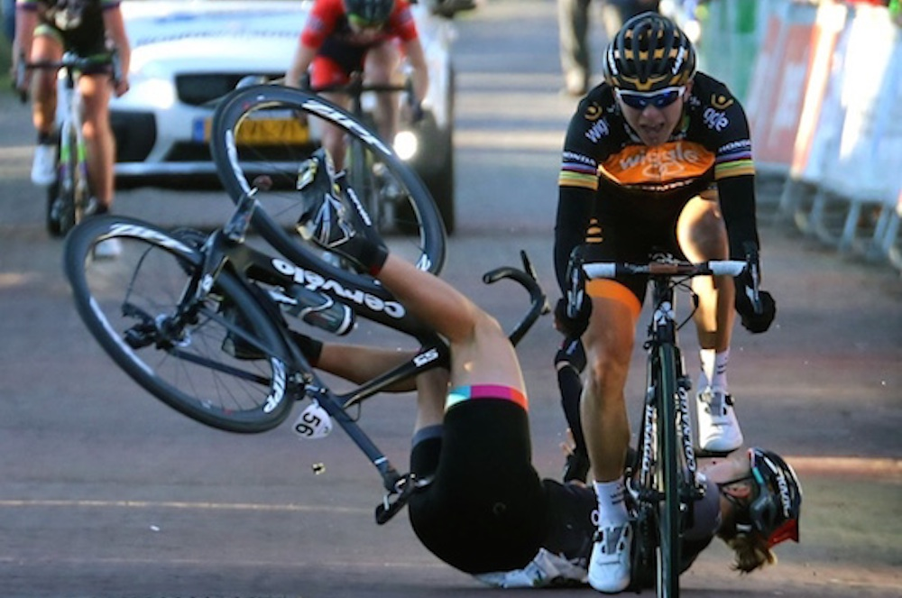 Female Cyclist Broken Collar Bone