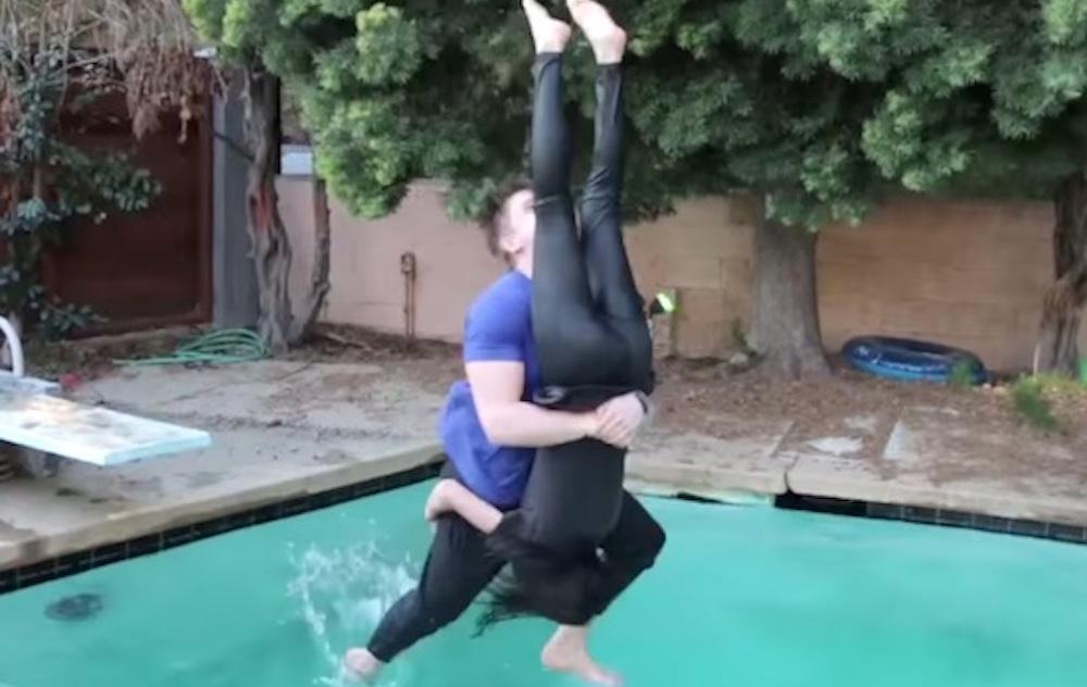 Guy WWE Moves Girlfriend