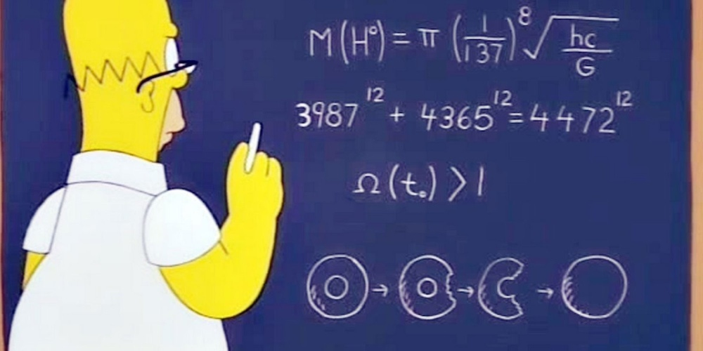 Homer Simpson God Particle