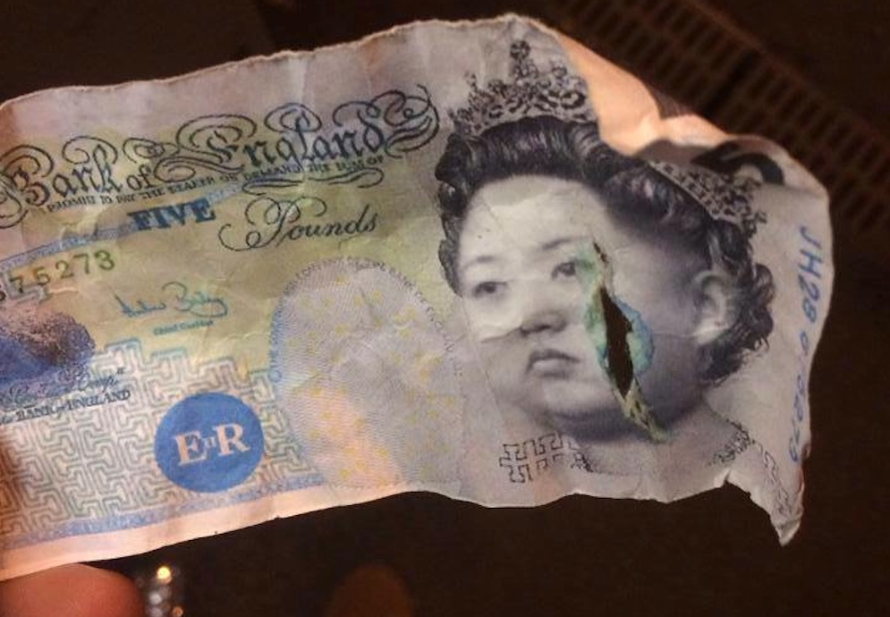 Kim Jong Un Face Five Pound Note