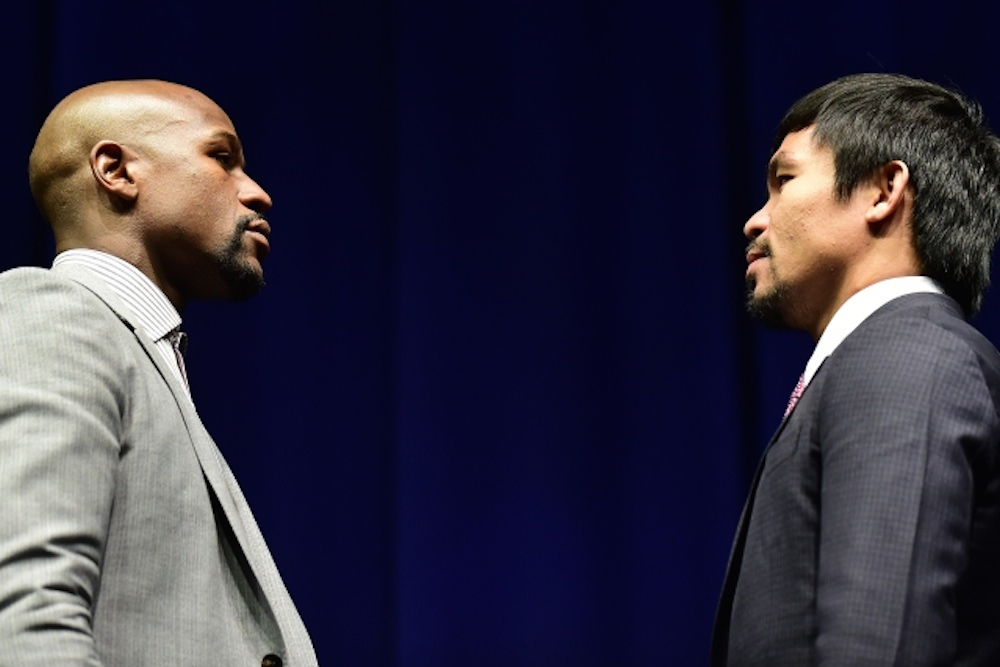 Mayweather Pacquiao Epic Stare Down