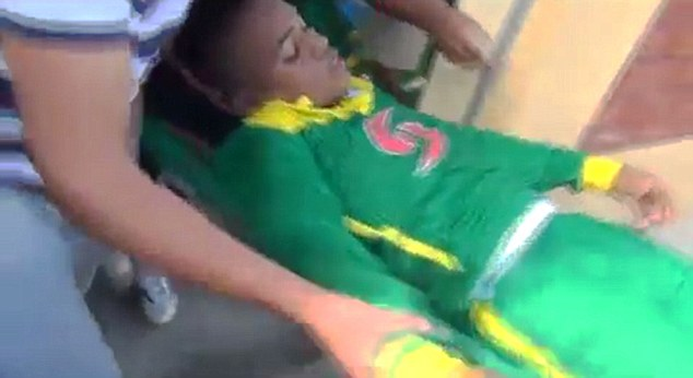 VID: Footballer Gets Second Severe Beating In Year from Fans