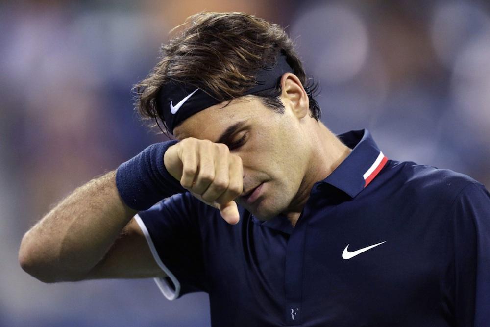 Roger Federer Upset