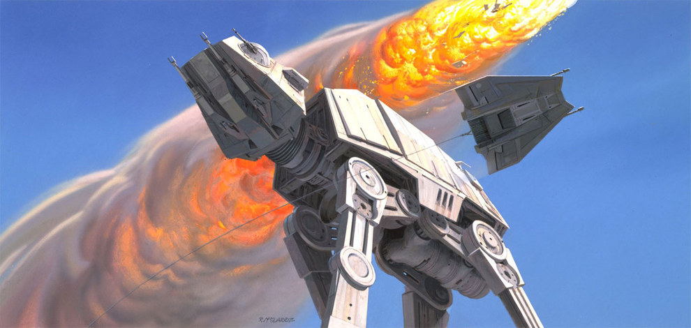 Star Wars Concept Art - Ralph McQuarrie - At At 2
