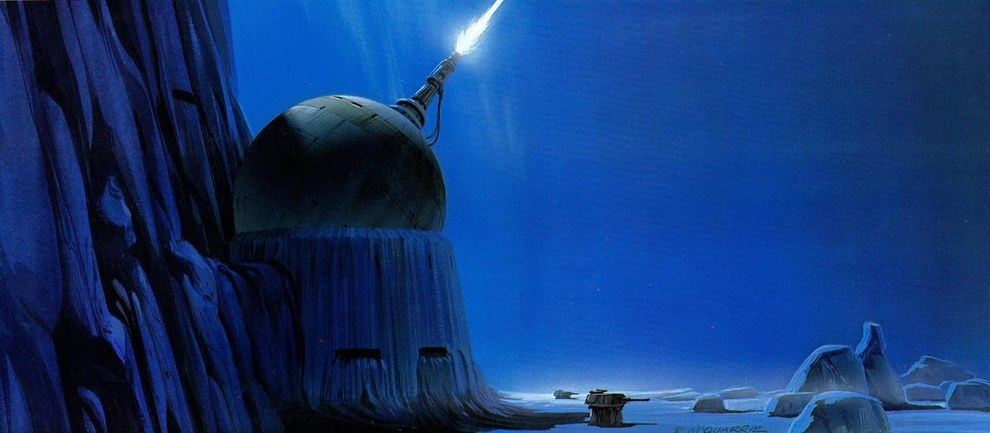 Star Wars Concept Art - Ralph McQuarrie - Ice Planet 3