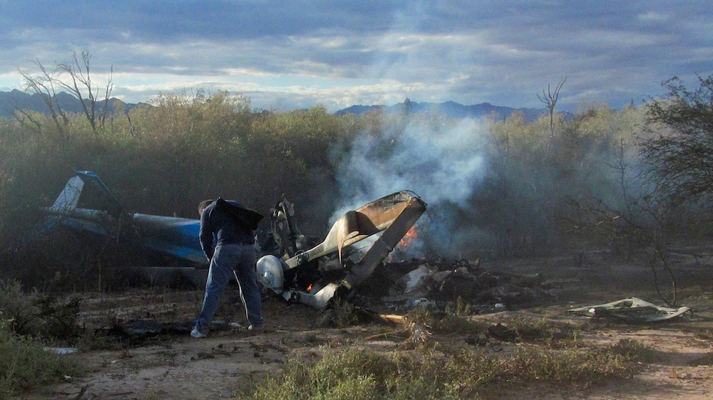 Two Helicopters Crash