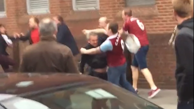 West Ham Fans Fighting Each Other