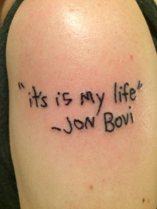 Worst Bon Jovi Tattoo