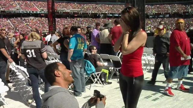 Wrestlemania Marriage Proposal