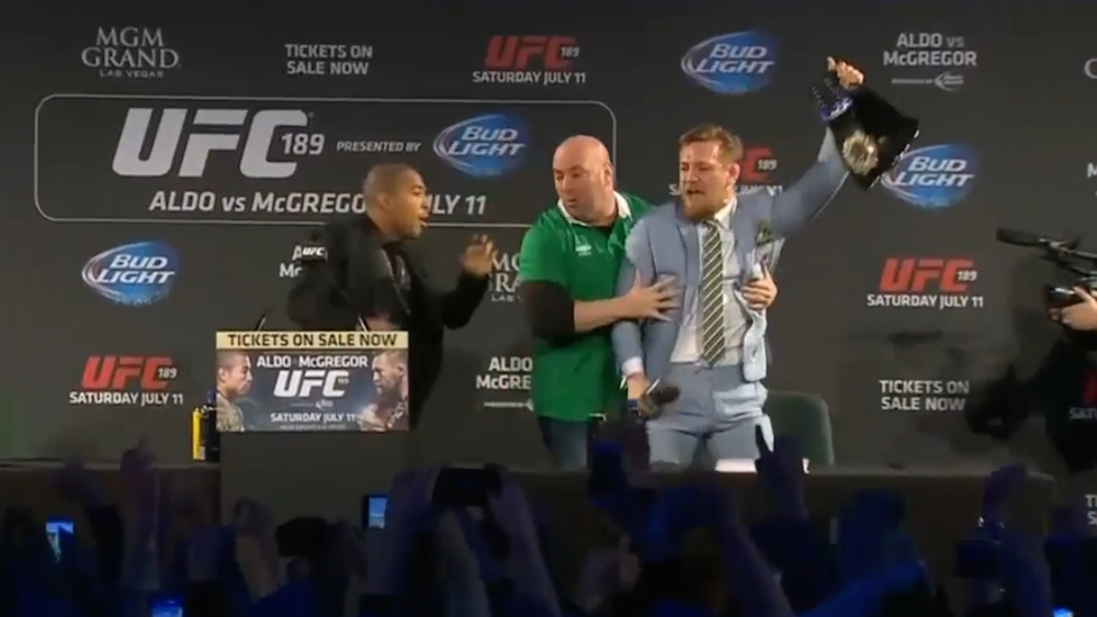 Conor McGregor Steals Aldo's Belt