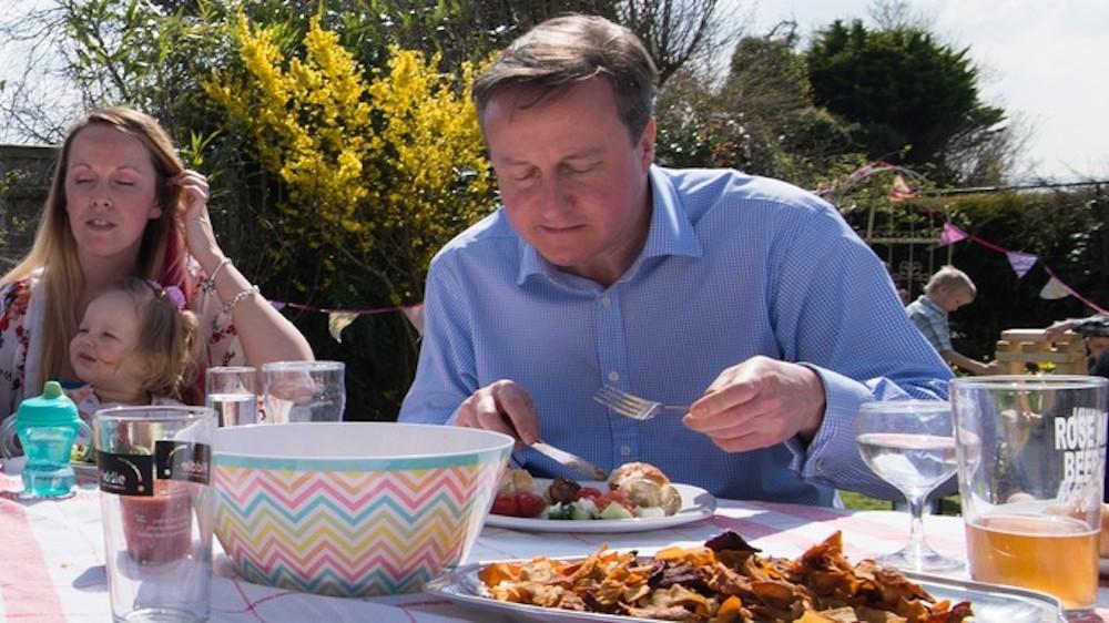 David Cameron Hot Dog Knife And Fork