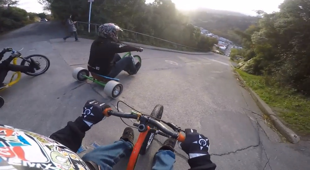 Drift Trike Steepest Hill In World