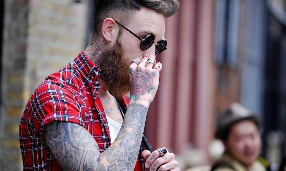 Hipster Smoking