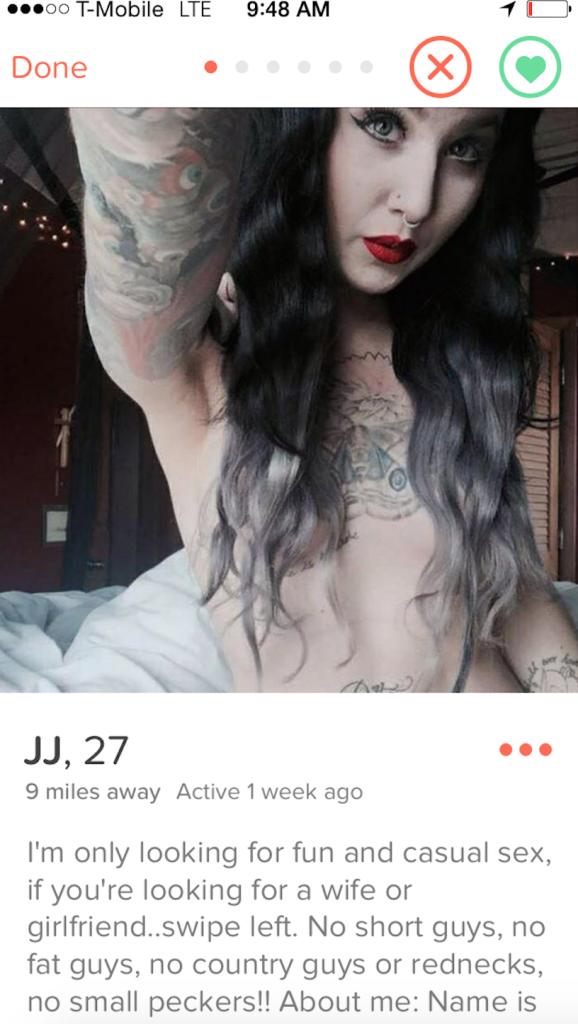 good tinder bios female