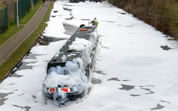 Manchester Aston Canal Foam Chemical Blaze 2