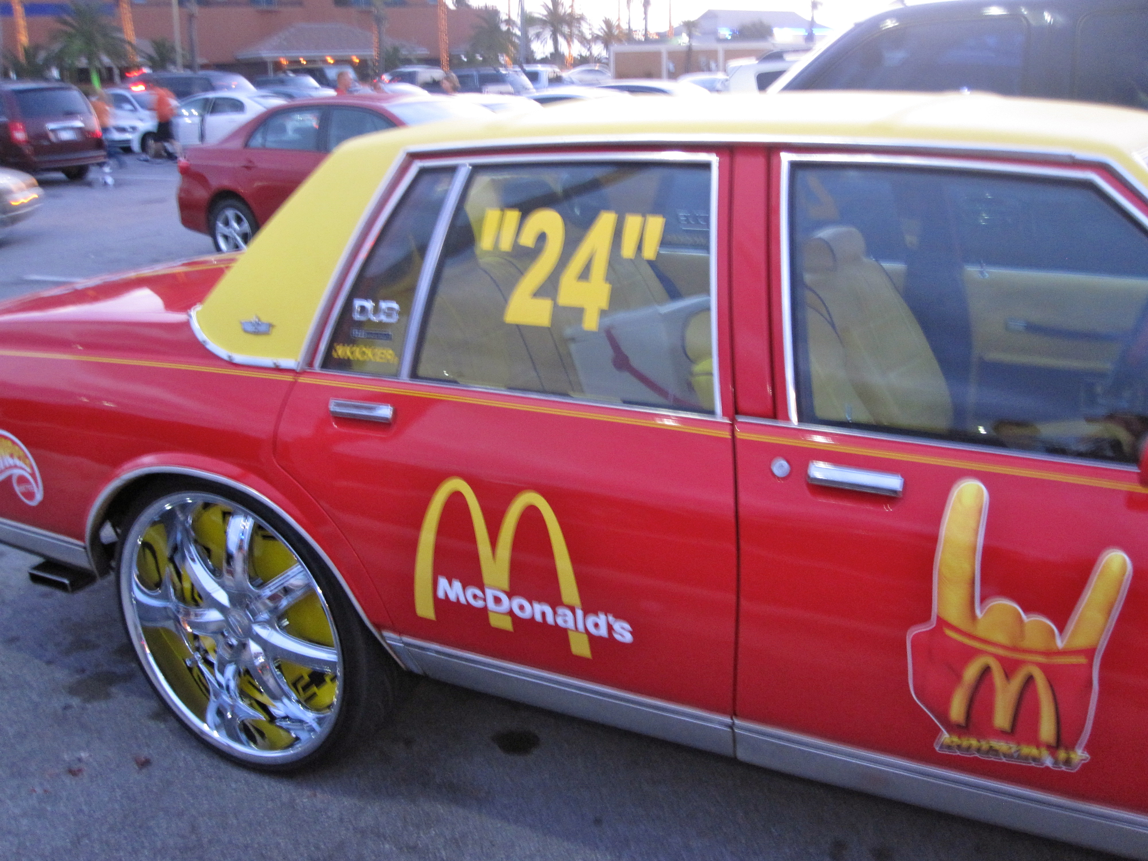 McDonalds Delivery UK McDelivery Car