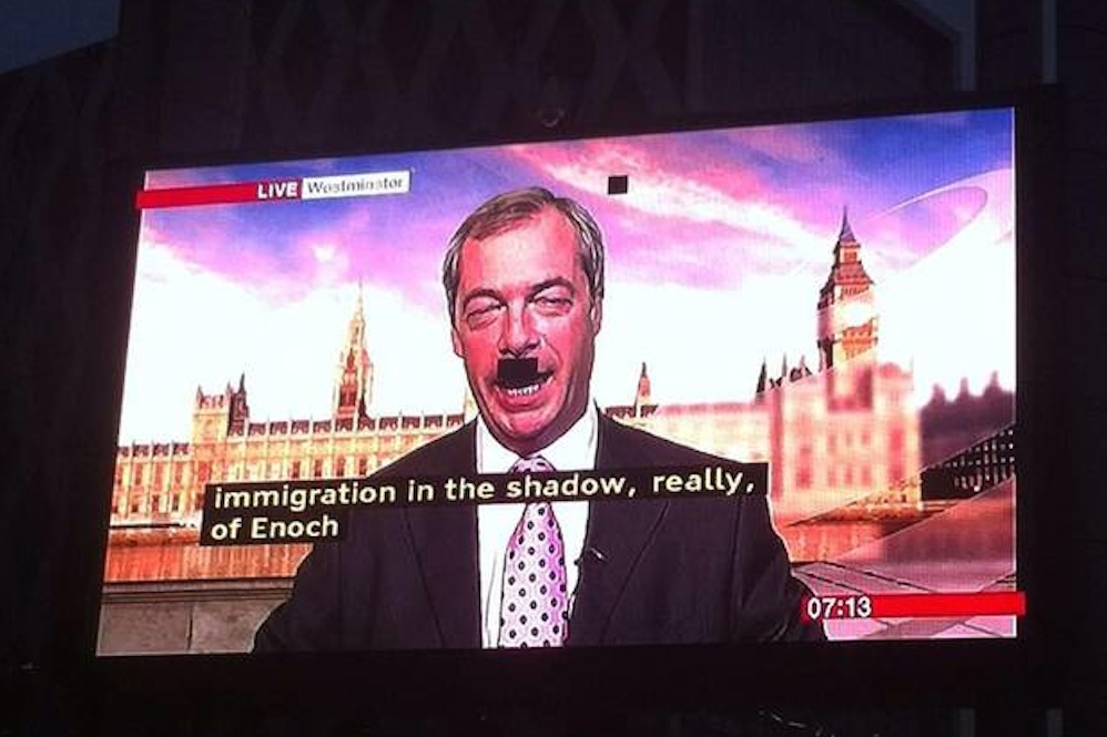 Nigel Farage Hitler Moustache
