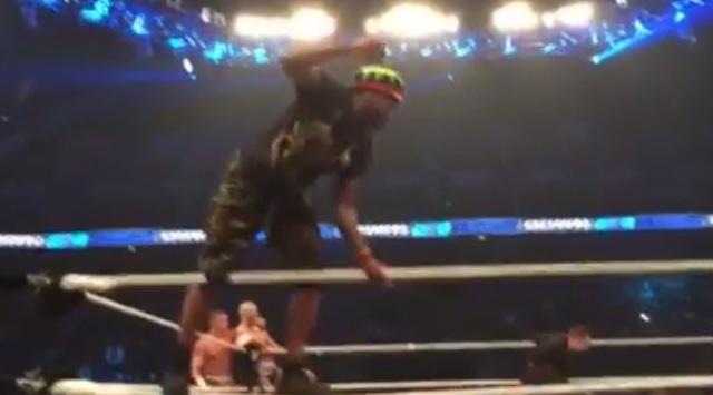 Pranksters Rush WWE Ring