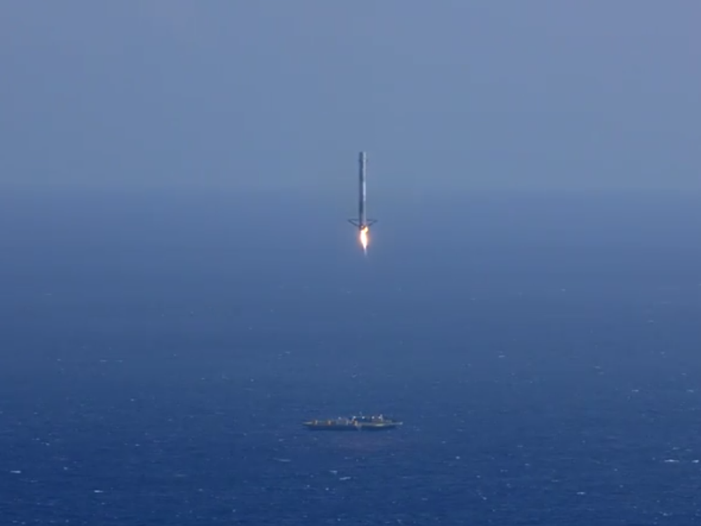 SpaceX Rocket Landing Fail Explosion Video