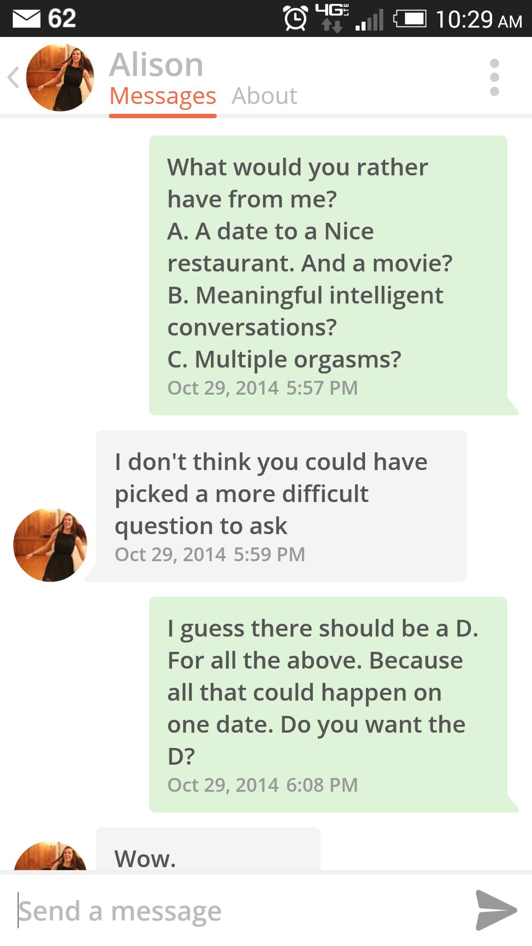 Tinder game