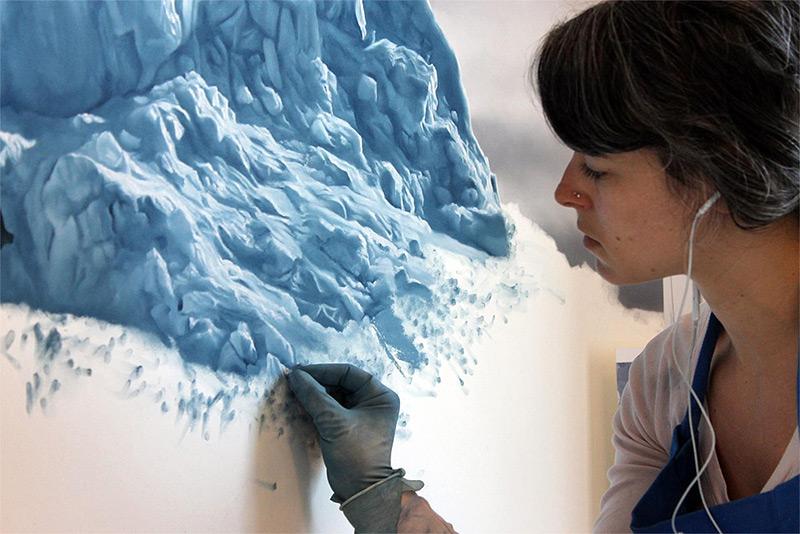 Zaria Forman - At Work 2