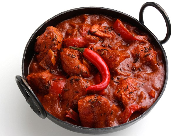 Chicken vindaloo Indian hot curry