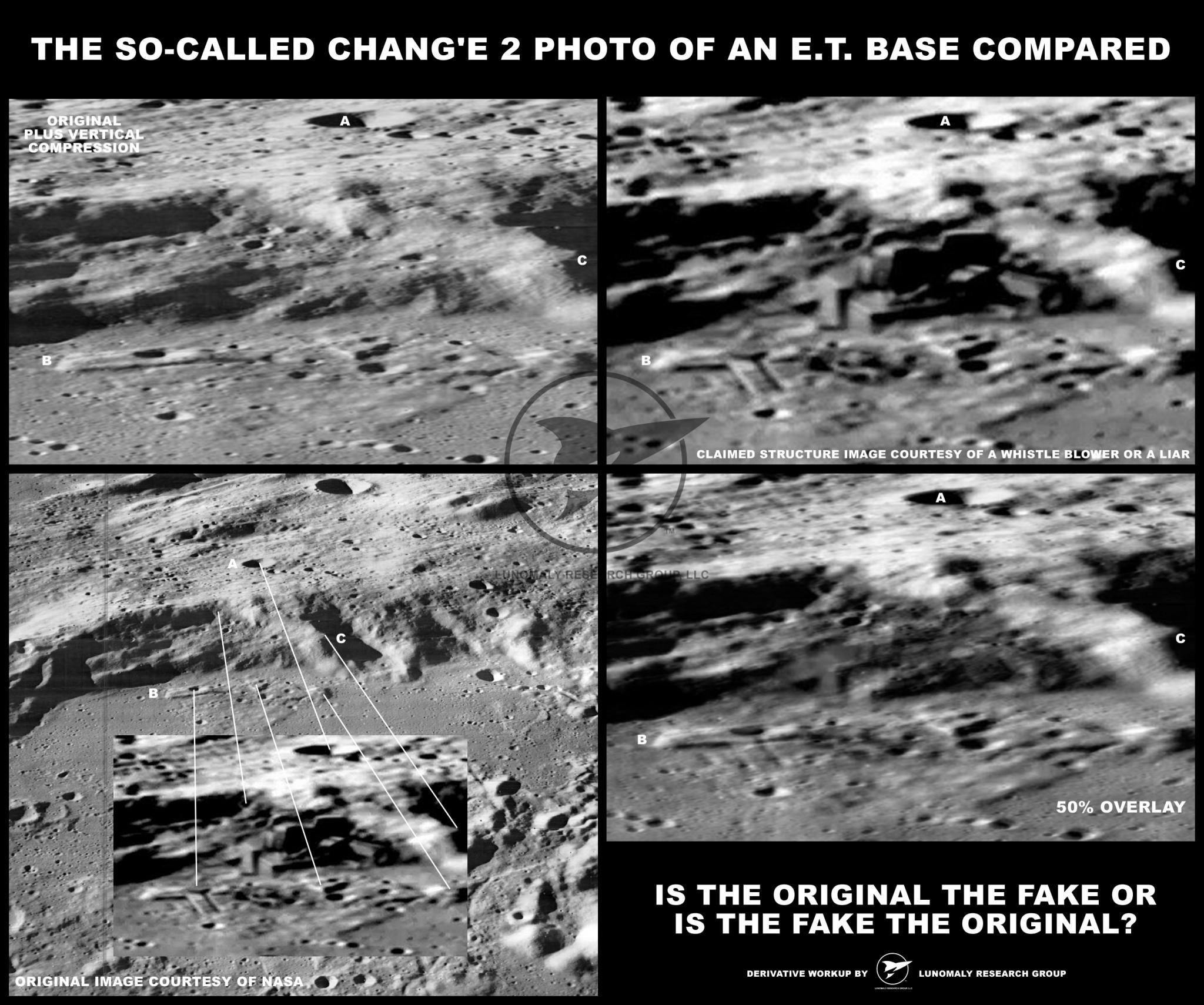 Alien Life China India - Chang e 2 Moon Base