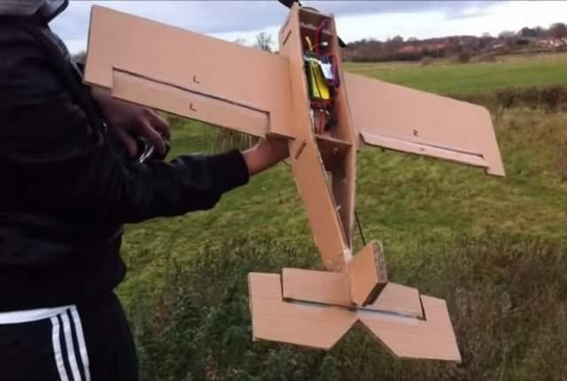 Cardboard Plane Homemade Flight Video 2