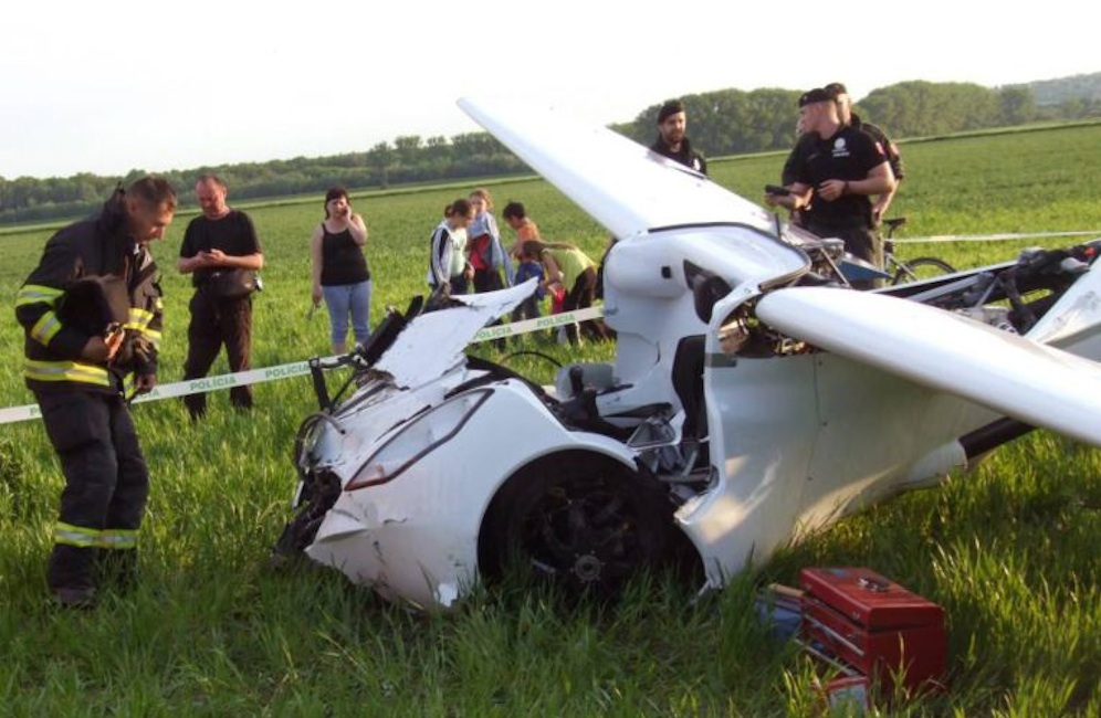 Flying Car Crashed