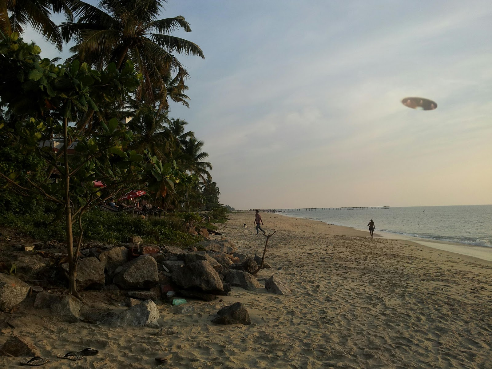 Indian UFO Over Beach
