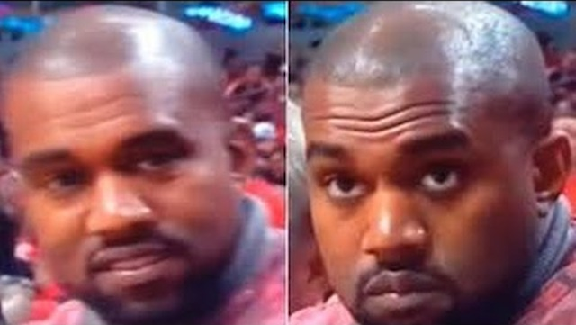 Kanye West Caught Smiling, Frowns