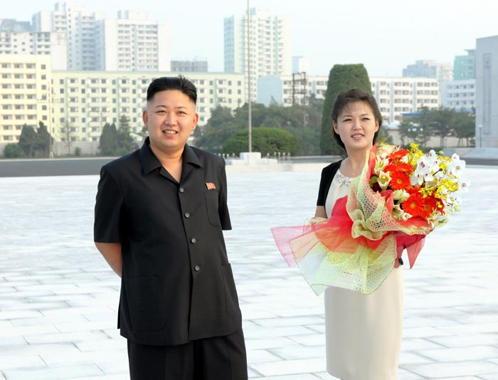 Kim Jon un with Ri Sol-ju