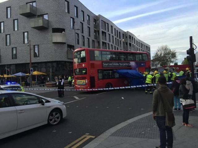 London Bus Crushes Unicycle