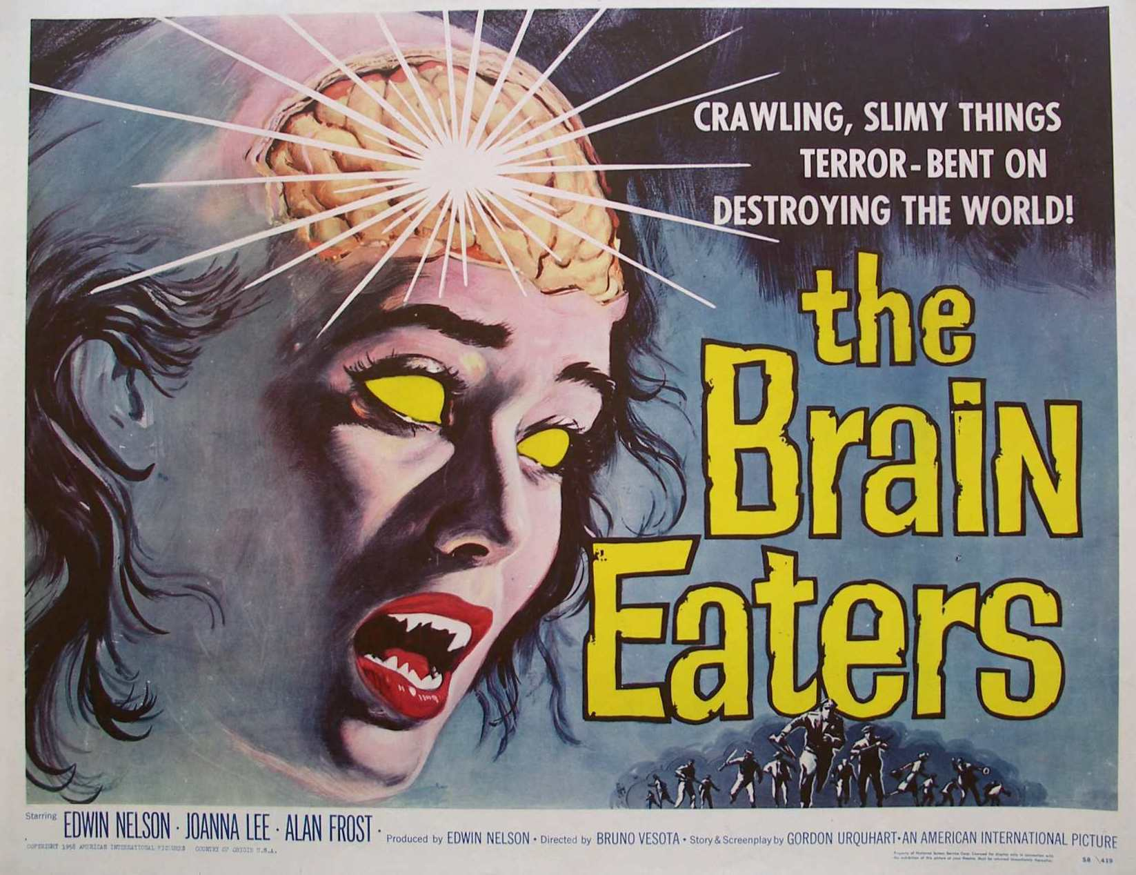 Old Retro Horror Film Posters - Brain Eaters
