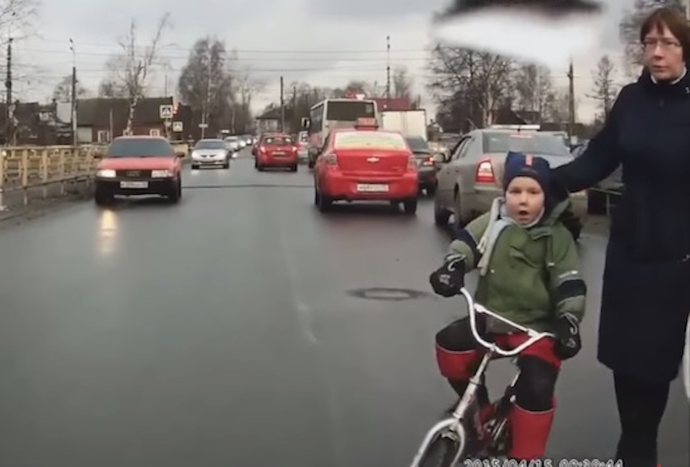 Russian Women Crossing The Street Badly