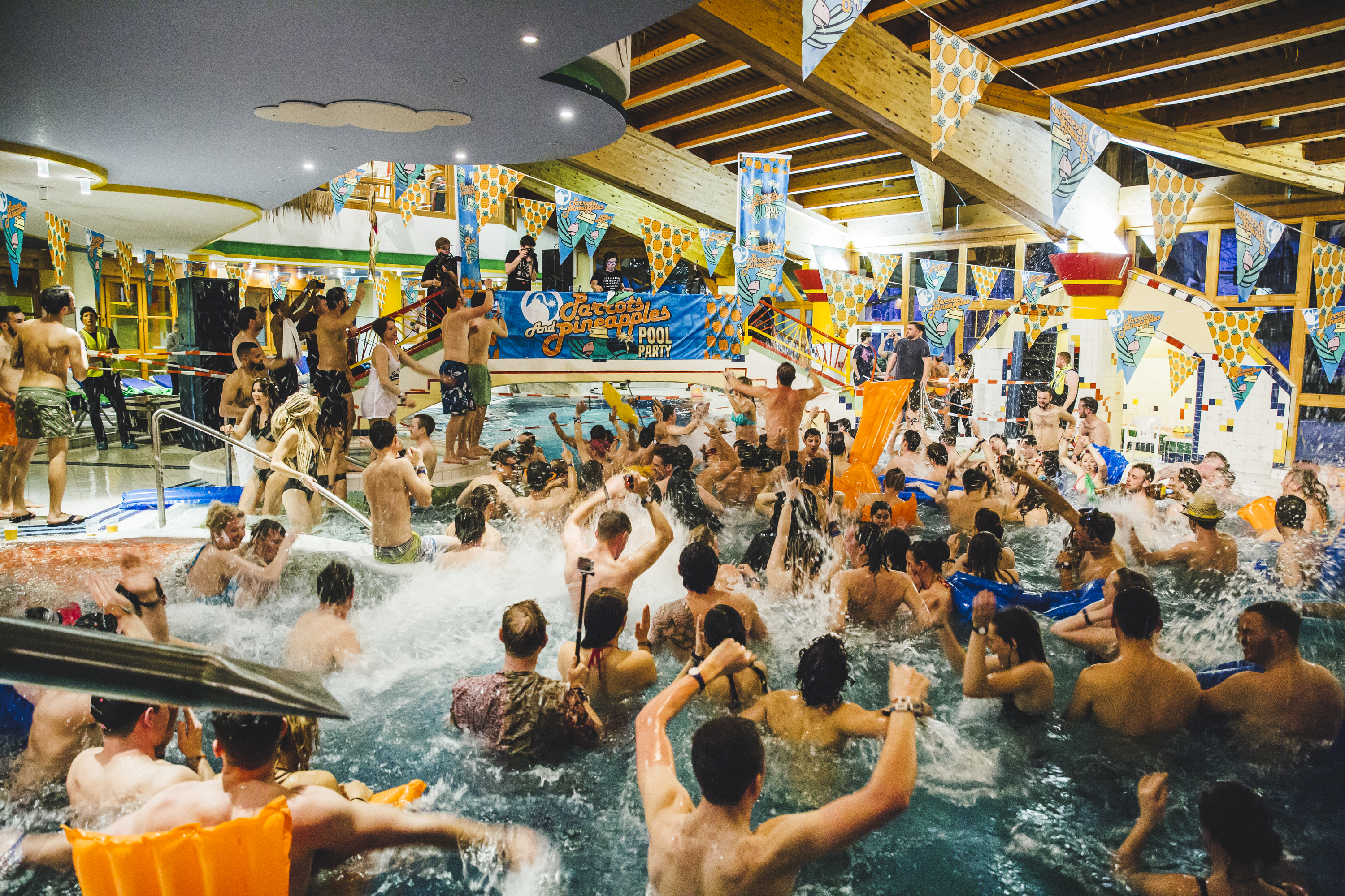 Skrillex Pool Party // Snowbombing 2015