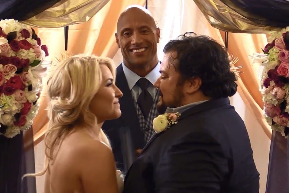The Rock Officiates Wedding