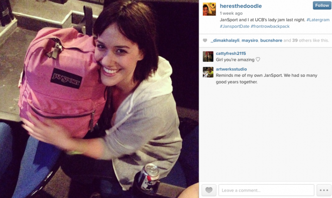 Woman Dates Backpack 7