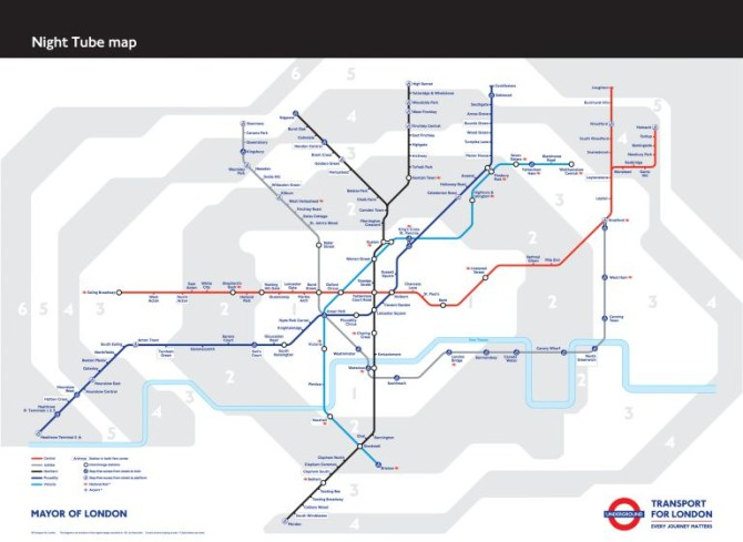 24 Hour Tube Map