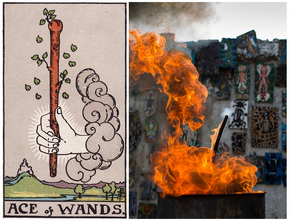 Alice Smeets's Ghetto Tarot - Ace of Wands