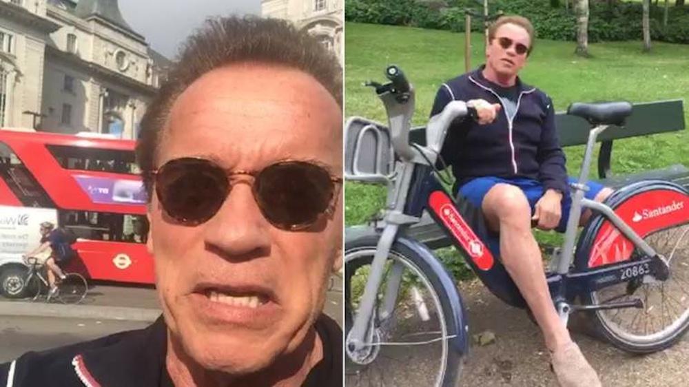 Arnold Schwarzenegger Boris Bike