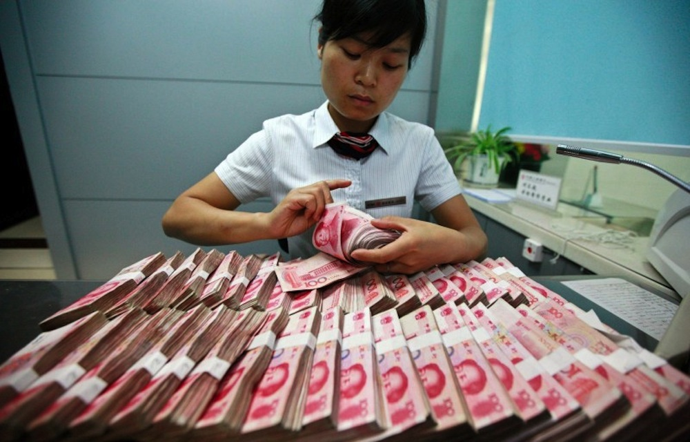 Chinese Bankers Catch STI Handling Dirty Notes