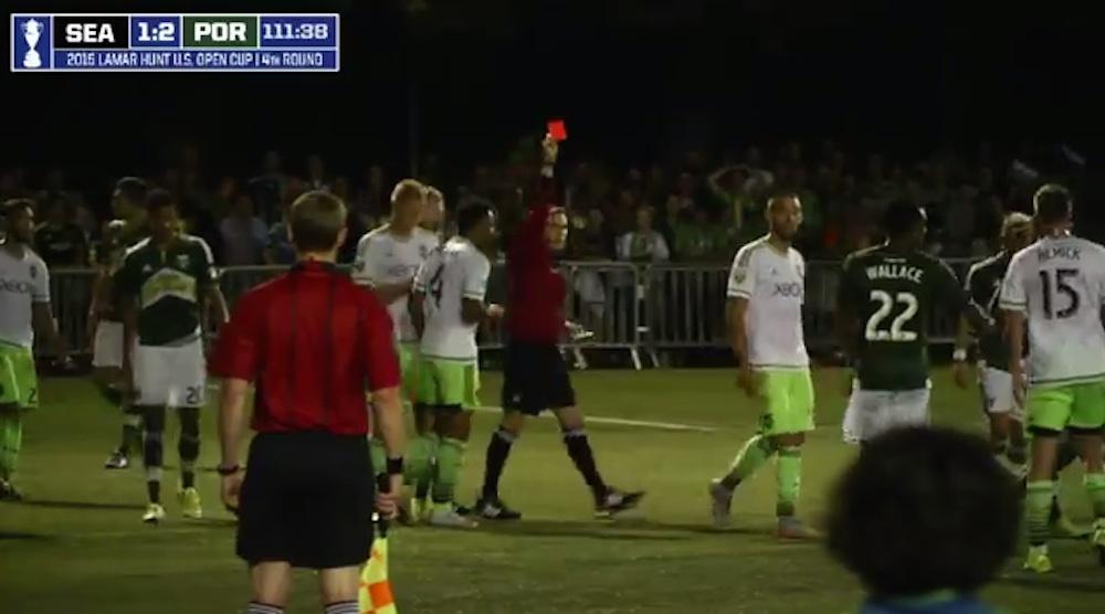 Clint Dempsey Sent Off