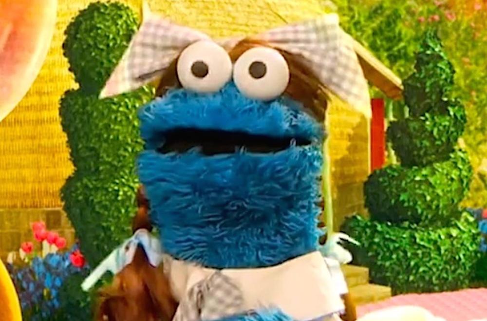 Cookie Monster Raps Busta Rhymes