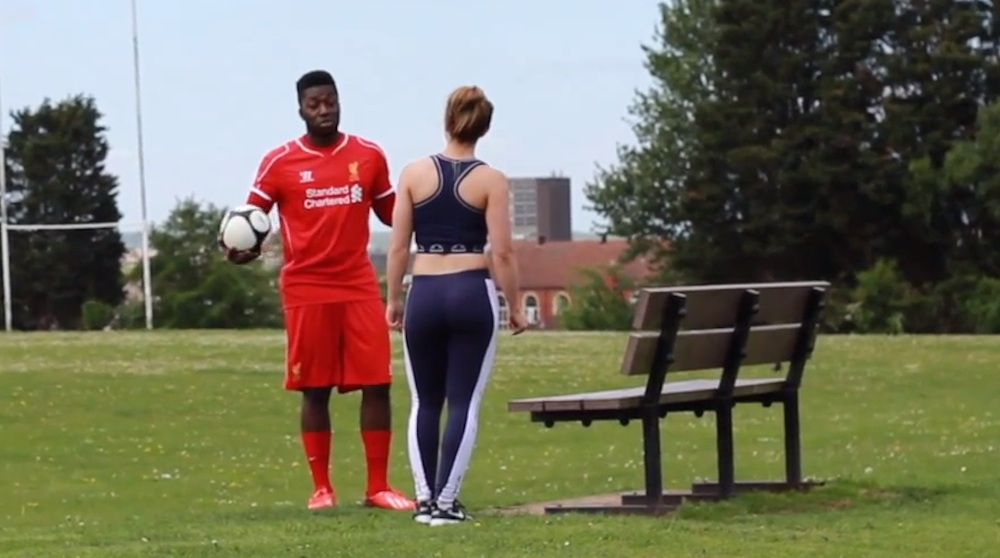 Daniel Sturridge Impersonator Picking Up Chicks