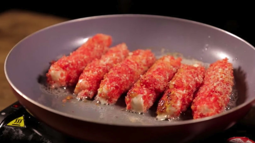 Flaming Hot Cheeto Mozarella Sticks