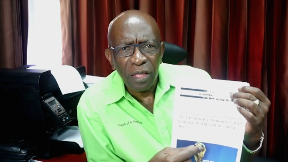 Jack Warner FIFA The Onion